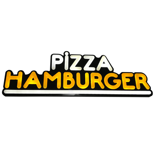 Pizza Hamburger Leon Led Tabela Işıklı 21x63CM